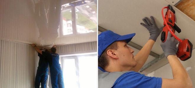 Какой потолок, натяжной или из гипсокартона, лучше предпочесть при ремонте?