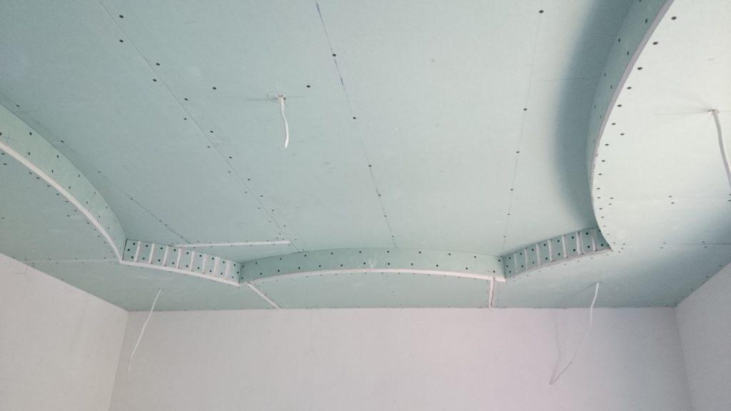 Как сделать потолки из гипсокартона в 2 уровня